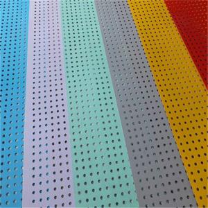 China SS Decorative Perforated Sheet Metal Panels PVC Coated Hold Size 0.5-8.0 on sale