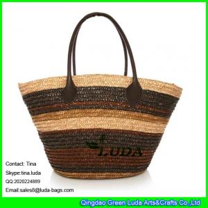 China LUDA 2015 summer straw handbags wheat handmade ladies straw shoulder bag on sale