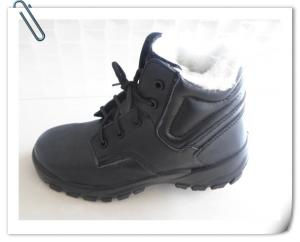 China Winter warm safety shoes leather real fur safety boots on sale