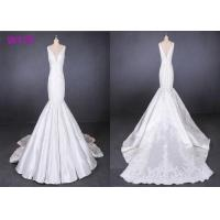 Straps satin mermaid wedding dresses bridal gowns customize made 2019