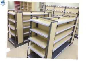 China MDF Supermarket Storage Racks For Convenience Store , Pharmacy Store on sale