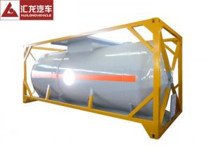 China 20FT Chemical Tank Trailer ,  Pneumatic Valve Chemical Transport Tanks Plastic Coating on sale