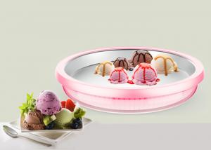 China Handmade Pink Instant Ice Cream Tray Pan 23cm Diametre With German LFGB on sale