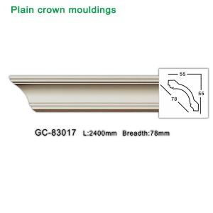 China High Density Waterproof Materials Polyurethane Plain Crown Mouldings for interior Decoration wholesale