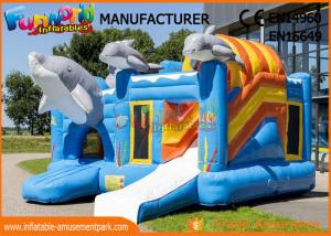 China Large Inflatable Bouncer Slide For 30 People / Inflatable Jumping Castle on sale