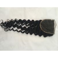 8a grade 18inch deep wave middle part free part swiss lace closure base size 4*4 inch