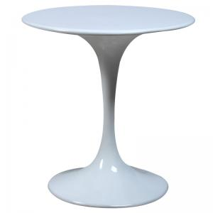 China Full Fiberglass Contemporary Glass Coffee Tables , Classic Round Tulip Table on sale