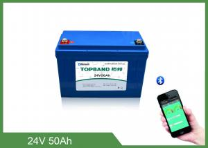 China Smart Bluetooth AGV Lithium Batteries TB-BL2450F Lifepo4 Batteries 24V 50Ah with App for ios/android on sale