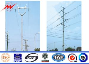 China 75ft 4mm Q235 Hdg Electric Power Pole Polygonal Double Cross Arm Iso Certification on sale