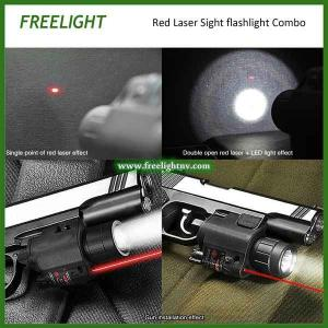 China red laser sight Alignment aiming scope with Super Bright 200 Lumen LED Flashlight combo on sale
