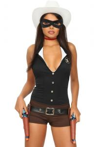 China Adult Lone Rider Adult Women Halloween Costumes XS,S,M,L,XL,XXL,XXXL Size on sale