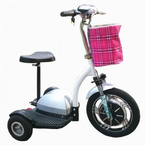 China CE approved 3 wheel zappy electric scooter tricycle moped bicycle transporter for Disabled old handicapped person on sale