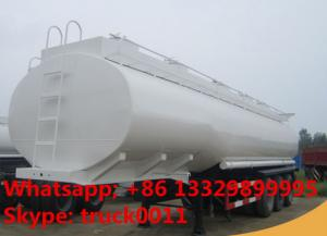 China 3 axle tri-axle 30000L fuel tank trailer for Zimbabwe, 3 axles 30m3 bulk road transported oil tank for sale on sale