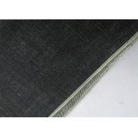Deep Indigo Washed Selvedge Denim Fabric , Slub 18.5oz Colored Stretch Denim Fabric