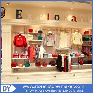 China Factory OEM Project wooden Clothing Stores For Boys,Boys Clothing Stores with custom big logo on sale