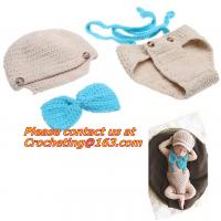 Prop Eggs Handmade Infant Baby Knit Costume Crochet Hat Baby Accessories Sleeping Bag