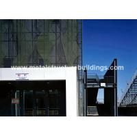 Heavy Duty Steel Construction Architecture Buildings With Space Frame
