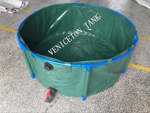 PVC mobile 1000l collapsible indoor tilapia fish farming