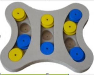 China 100% Handmade Dog Intelligence Toy , Outdoor Stimulating Dog Toys Multi Colors on sale