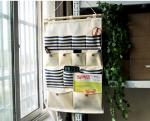 Over the door magazine hanging storage organizer