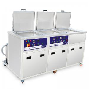 China Three Tanks Industrial Ultrasonic Cleaning System With Ultrasonic Washing Ringsing Drying on sale