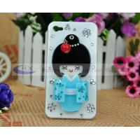 Rhinestone Bling Kimono Girl Cellphone iPhone 4 Diamond Covers Case