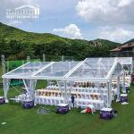 Tent Material PVC Transparent, Clear PVC Roof Liri Tent