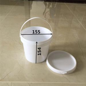 China 2L plastic bucket  for coating packing box with handle on sale
