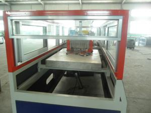 China Automatic PE WPC Extrusion Line , Conical Twin Screw Extruder on sale