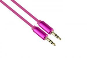 China Pink Audio Stereo Cable With Gold Plated Connectors For Car ROHS on sale