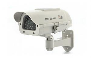 China CCTV Camera Accessories , Realistic Solar Powered Dummy Camera For Security on sale