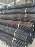 Flat End Black Welded Steel Pipe Bent / Folded Without Cracks / Heavy Leather