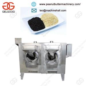 China High Capacity Automatic Sesame Seed Roasting Machine Gas Heating with Low Price on sale
