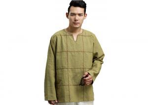 b769d3a3 Blank Men Natural Hemp Clothing Eco - Friendly Long Sleeve T Shirts ...