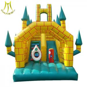China Hansel china commercial inflatable bouncer with slide for inflatable games factory on sale