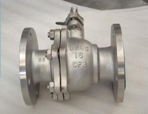 China Robinet à tournant sphérique du tuyau DN25, robinet de bille d'acier inoxydable à hautes températures WRAS/OIN 9001 on sale