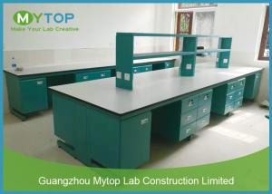 China Floor Mounted Science Lab Tables Modular Laboratory Furniture For Pharmacy Company on sale