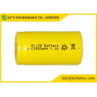 Low Self Discharge C3500mah 1.2 V Nicd Rechargeable Batteries Wide Temperature Range