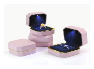 China Wedding Engagement Single Ring Earring Jewelry Box  With LED Light on sale