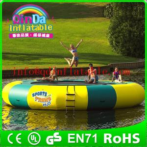 China Inflatable aquatic trampoline inflatable gymnastics trampoline aqua trampoline on sale