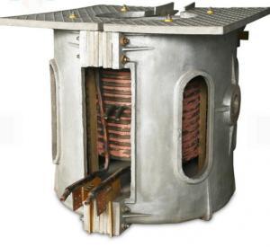 China Fast Heating Cast Iron Melting Furnace , 750kg Induction Melting Machine on sale