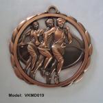 La médaille courante creuse de course, bronzent les médaillons courants creux vides plaqués de campagne,