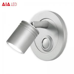 China Flexible press-button switch bedside wall bed light 3W & led reading wall light on sale