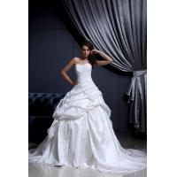 China Strapless Sweetheart Taffeta Ruffle Empire Line Wedding Dresses for Girls / Ladies / Womens on sale