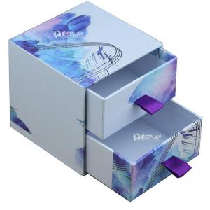 China Safe Fashionable Cosmetic Cardboard Display Boxes / Container With Drawer on sale
