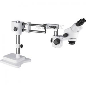 China Double Arm Boom Stand Stereo Zoom Microscope With 235MM Long Travel Range on sale