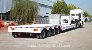 China Reboque lowboy do melhor eixo do preço 4 para o peso de carga 100tons, reboque lowbed com gooseneck destacável on sale