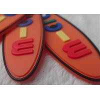 China Non - Toxic Oval Creative Rubber Logo Patches For Garments / Children Bags on sale