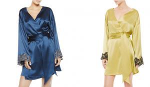 China New design Luxury silk night-robe for women sleepwear high quality pajamas made in China on sale