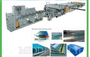 China 0.3 - 20mm Plastic Sheet Making Machine , High Speed Sheet Extrusion Equipment on sale